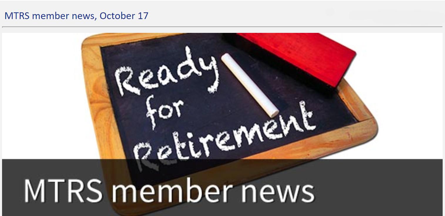 MTRS member news